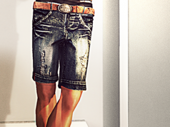 Ugo Denim Shorts & Ugo Belt