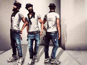 WABAN jeans & belt